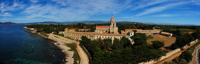 Church and monastery of the Lérins Abbey,credit Alberto Fernandez Fernandez