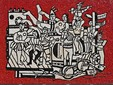 Léger  Grand parade with red background mosaic 1958, credit Donaldytong.