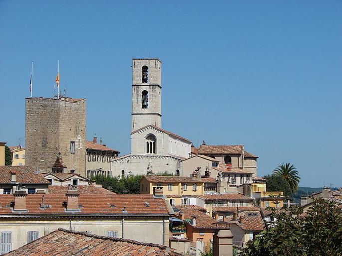 Grasse Kathedralen Turm, Kredit Copyleft.