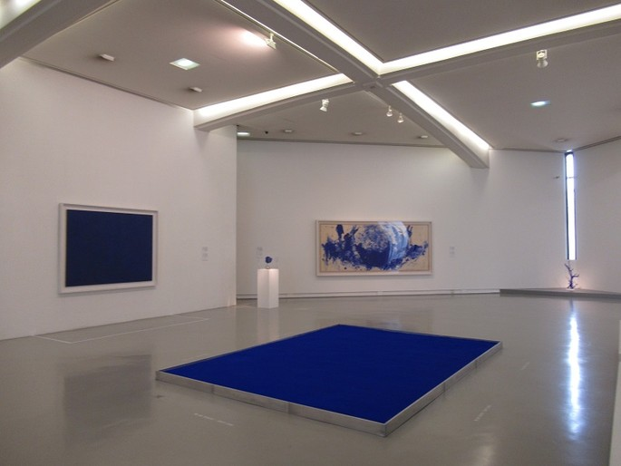 "The ""blue"" of Yves Klein in the permanent exhibition at MAMAC in Nice [Video & photo gallery]"