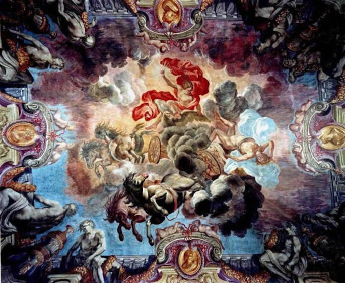 La Chute de Phaéton foudroyé par Jupiter, Palais Lascaris