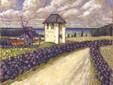 Landschaft mit Glockenturm