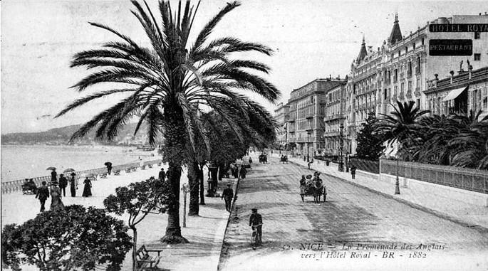 Promenade des Anglais in 1882.