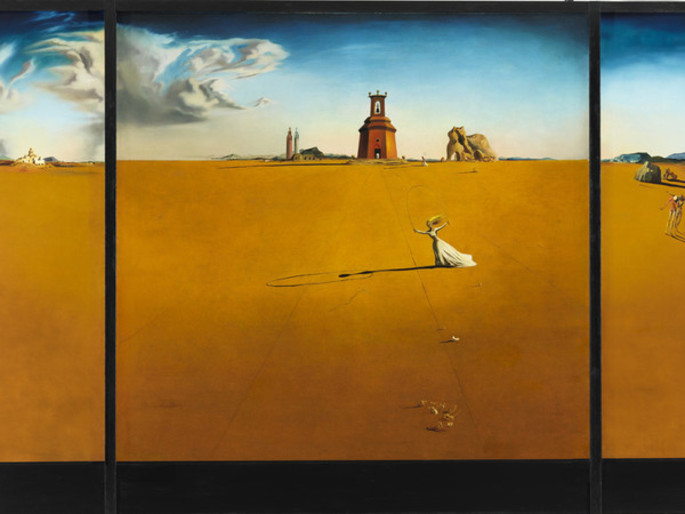 Dali, Landscape with girl skipping rope