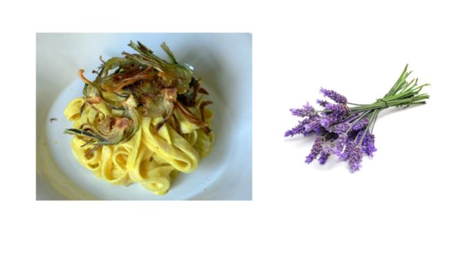 Рецепт недели: тальятелле с артишоками и лавандой - в Пигато
