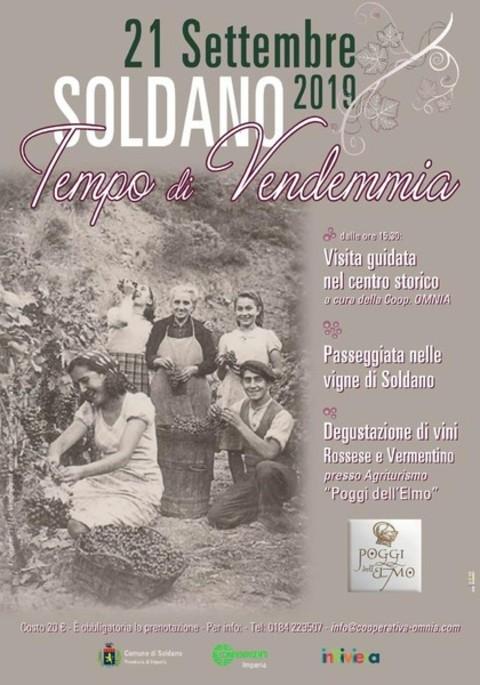 Soldano -  экскурсия «Время сбора винограда», с несколькими этапами,по волшебным местам Западной Лигурии.